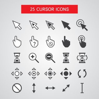 Vector Cursor Icons Set