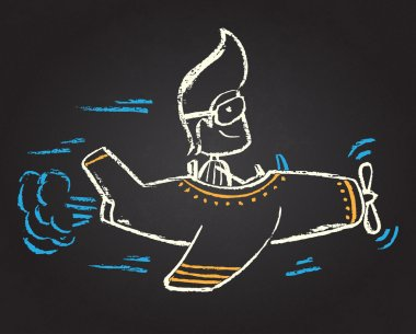 Illustration of chalked character