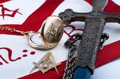 Fotografie freemasonry symbolic objects