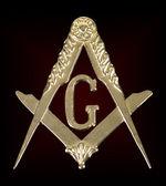 freemasonry golden medal  square  compass