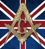 Fotografie freemasonry golden medal  square  compass