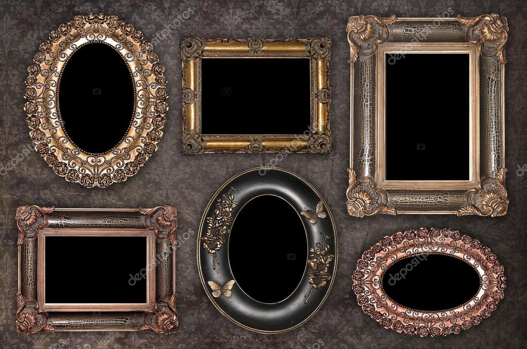 conjunto de Marcos antiguos — Foto de stock © dekanaryas #46780051