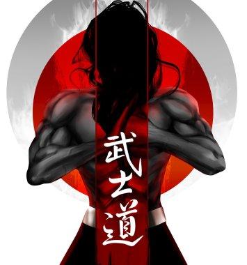Samurai standing pose
