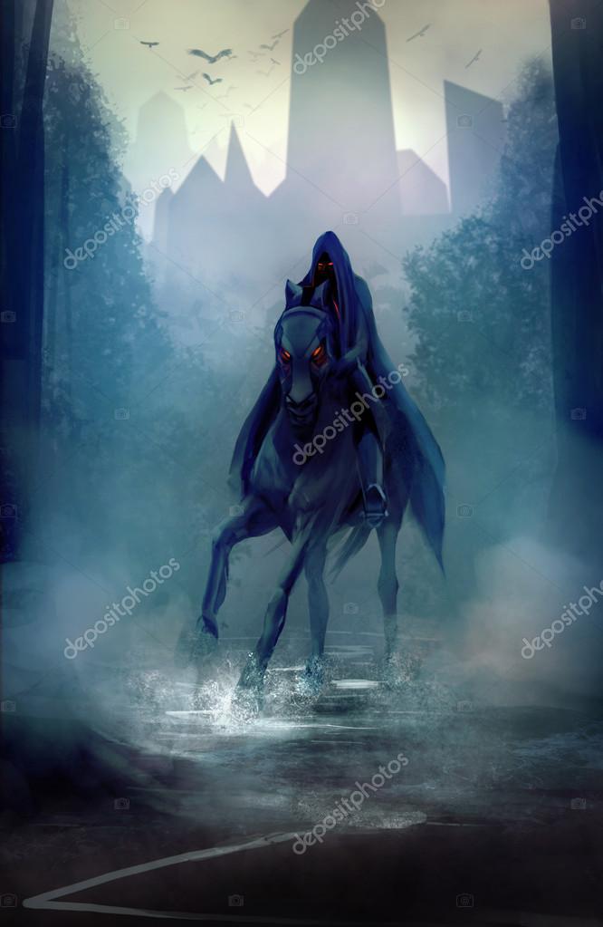 Black horseman.