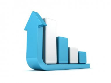 Business successful bar graph growth