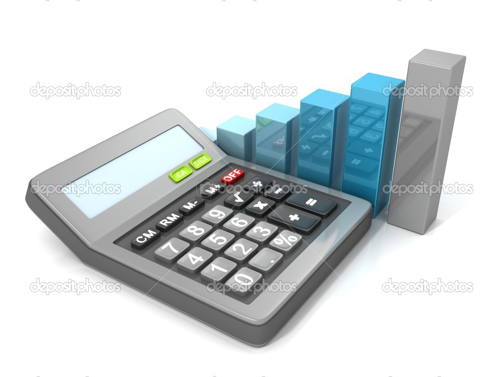 Calculator and bar graph diagram stock photo versusstudio 45813337 calculator and bar graph diagram stock photo ccuart Image collections
