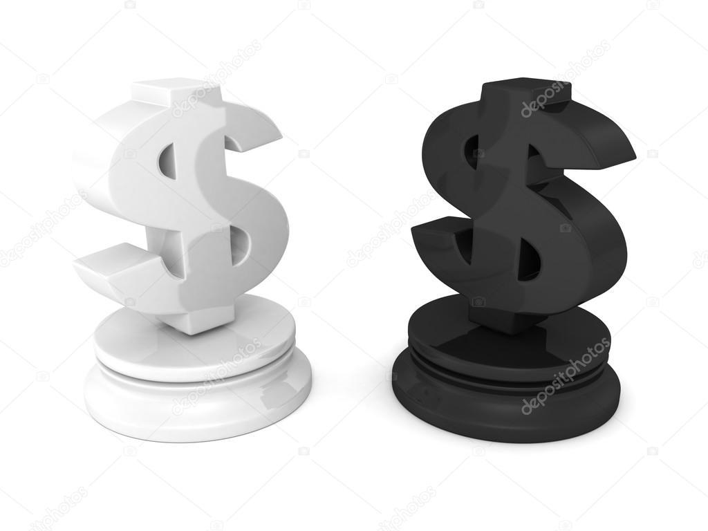 Dollar Currency Chess Symbols Stock Photo Versusstudio 45816199