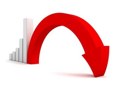 Business graph decline