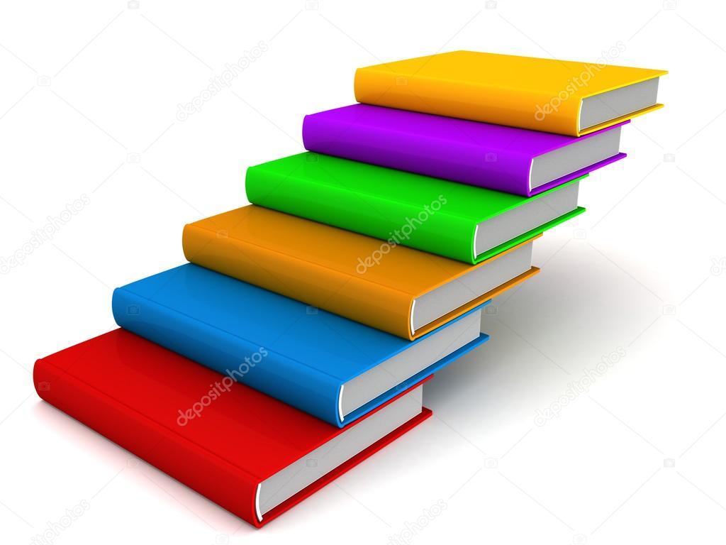 escalera escaleras de libros coloridos — Fotos de Stock ...