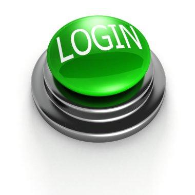 Green login button