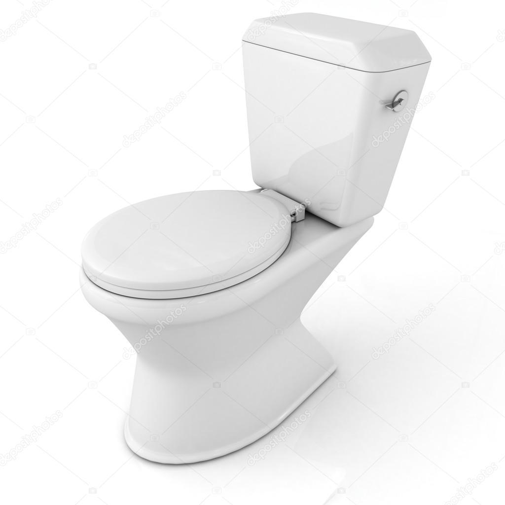 Inodoro Wc 3d Sobre Fondo Blanco Foto De Stock Versusstudio  ~ Como Limpiar El Fondo Del Inodoro