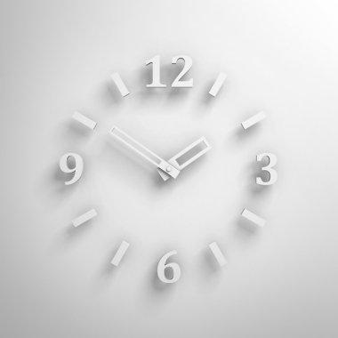 White clock face
