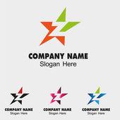 Fényképek absztrakt z betű logo tervezés a csillag ikonra