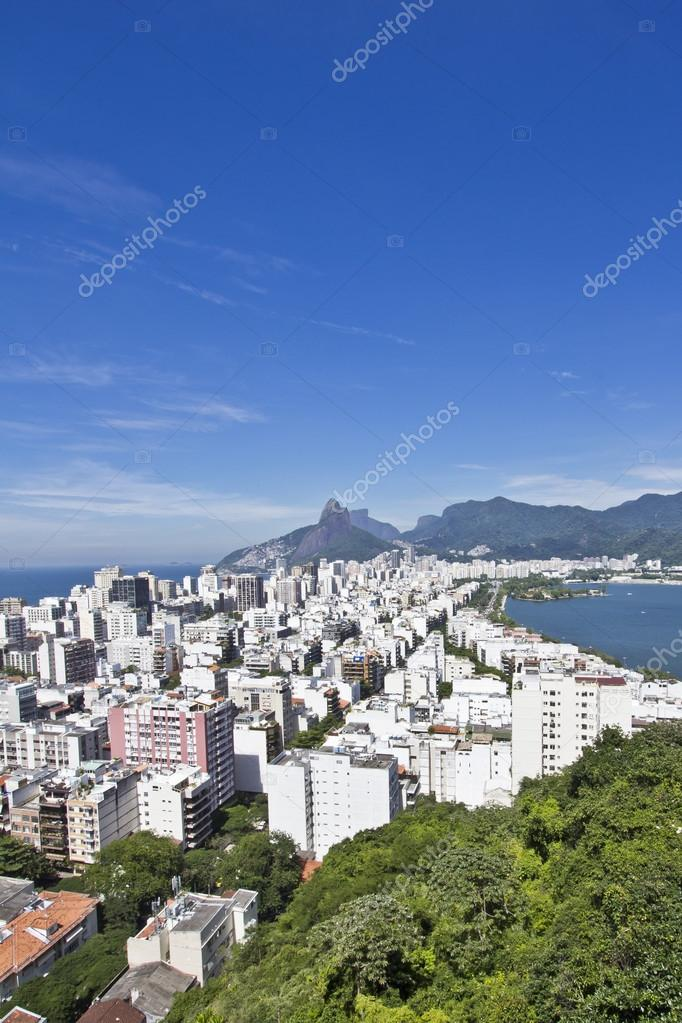 View of the Rio de Janeiro's famous neighbourhoods of Copacabana