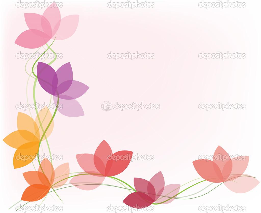 abstrato de vector flor pastel colorido ou papel de parede vetor por ybonce
