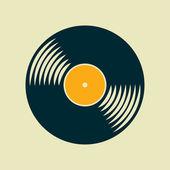 vektorové vinyl záznam ikona