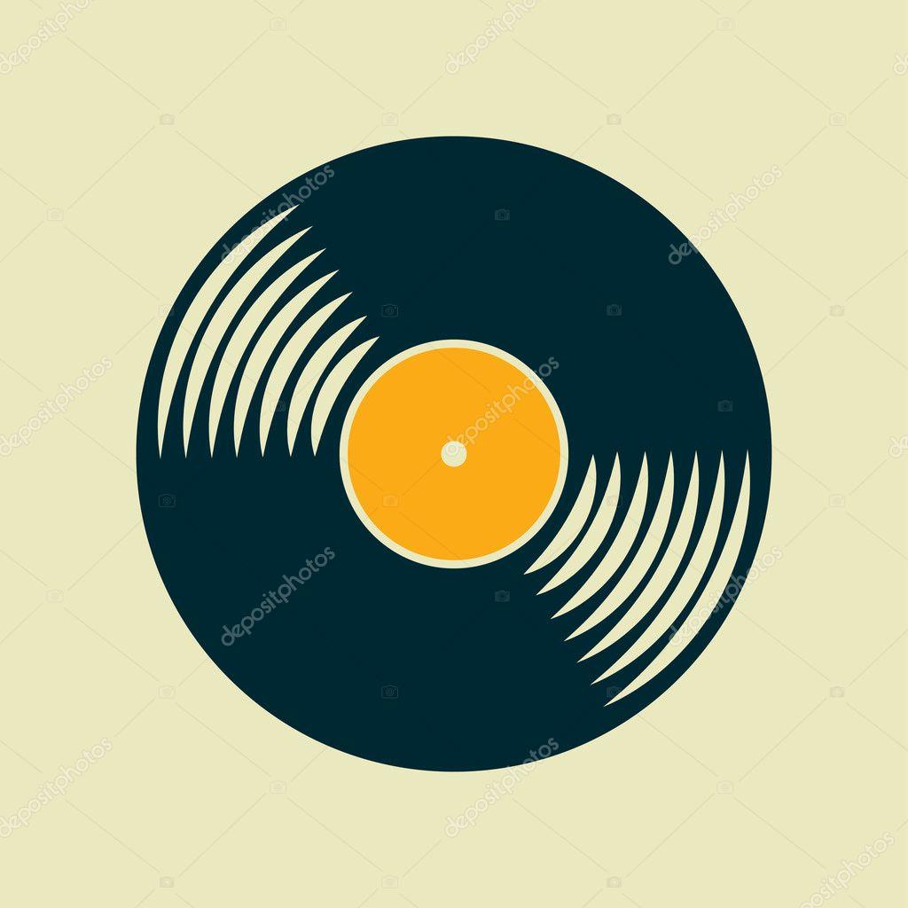 Vector Vinyl Record Icon Stock Vector 169 Mara Lingstad