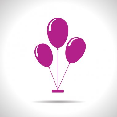Vector balloons icon. Eps10