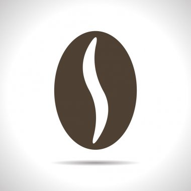 Vector coffee bean icon. Eps10