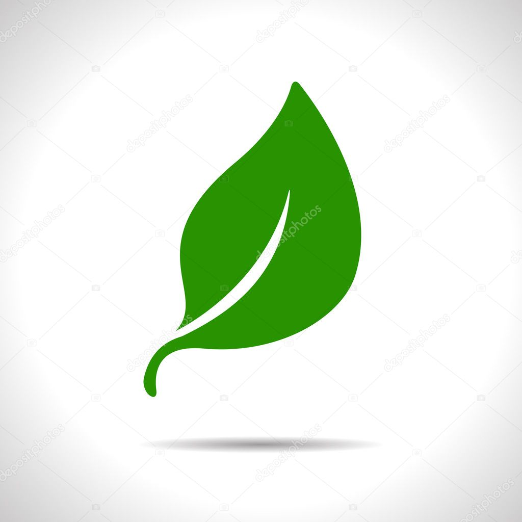 Vector leaf icon. Eps10