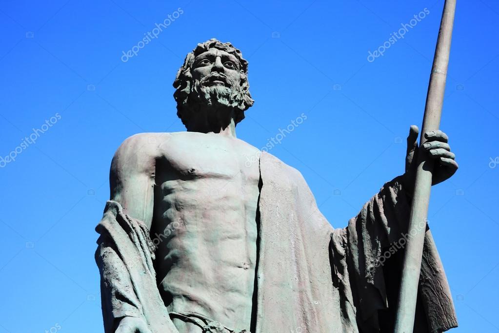 グアンチェ族チーフの像は、テネ...