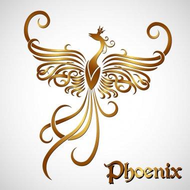 Golden fire phoenix