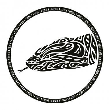 Tribal anaconda snake tattoo