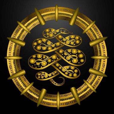 Golden snake symbol
