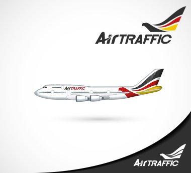 Air traffic headers - illustration stock vector