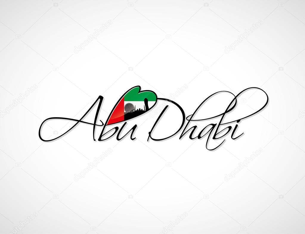 Abu Dhabi lettering