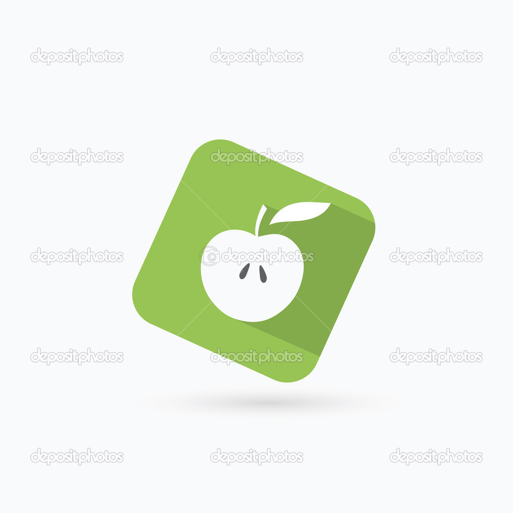 Painted Apple Symbol Stock Vector Itrovic 46026805