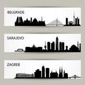 Fényképek City skyline bannerek