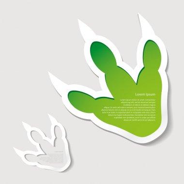 Dinosaur footprint banner