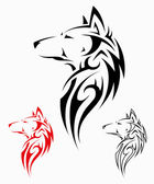 Photo Tribal wolf tattoo