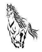 silueta koně