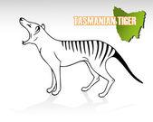 Fényképek tasmán tigris