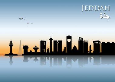 Jeddah city ribbon banner