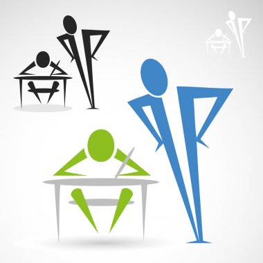 Teacher and student icon
