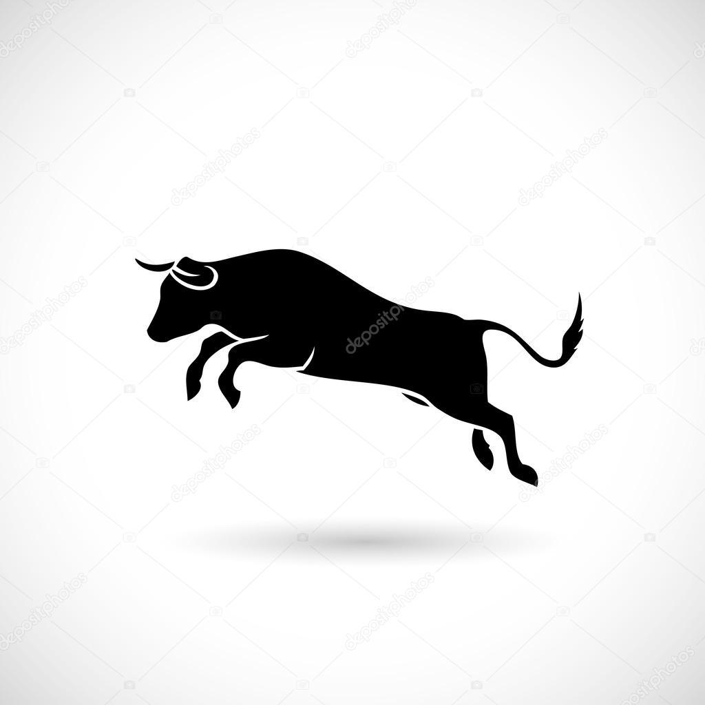Jumping bull label