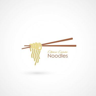 Noodles with chopsticks