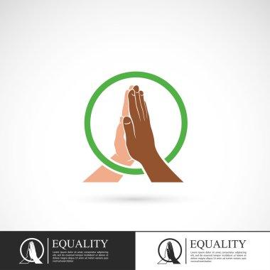 Racial equality sign