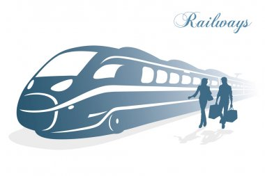 High speed train background