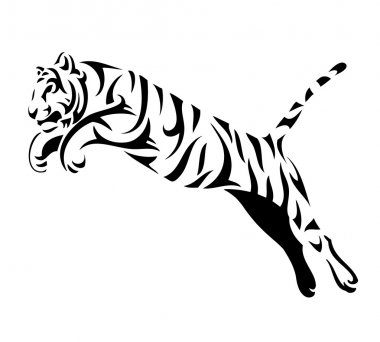 Tribal tiger jump