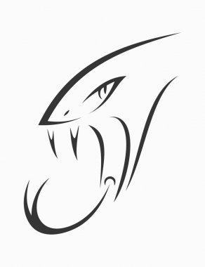 Snake head tattoo