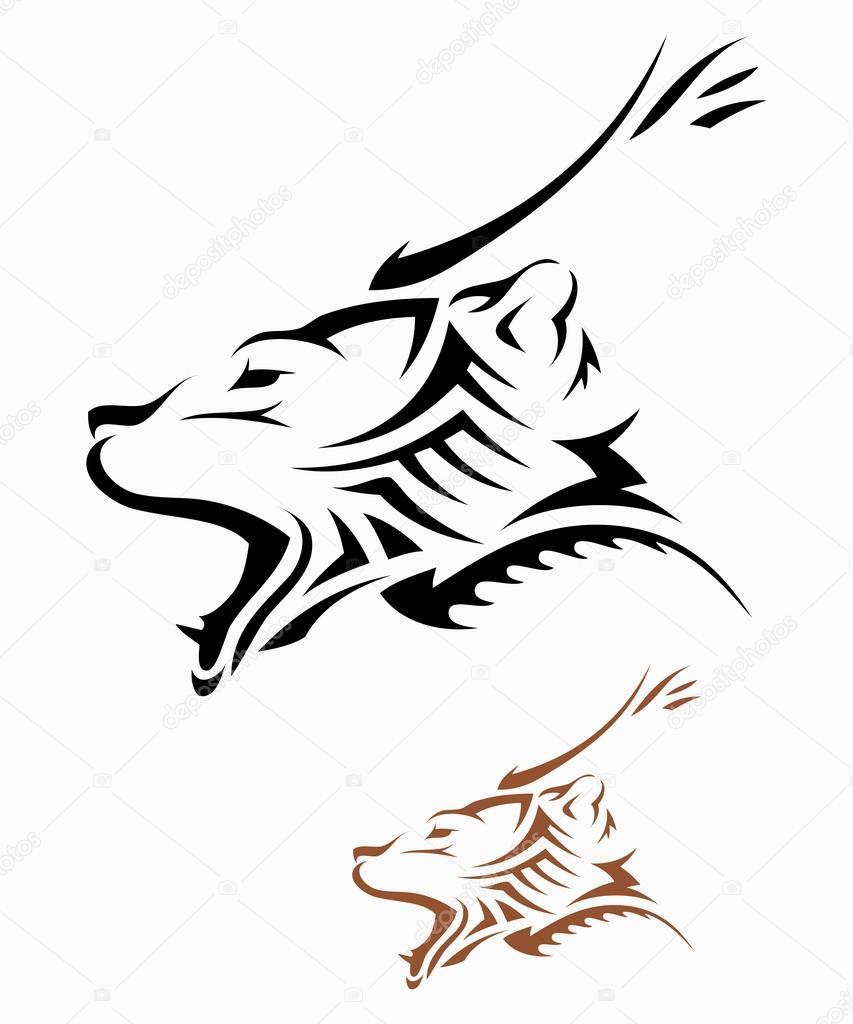 Vector Oso Tribal Tatuaje Tribal Oso Vector De Stock I