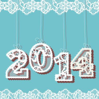 New year 2014 lace background.