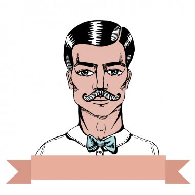 Portrait of a man whit a moustache