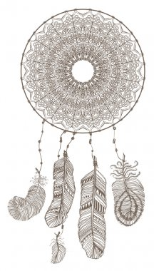 Abstract decorative dream catcher.