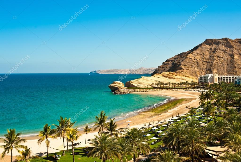 Oman coast landscape
