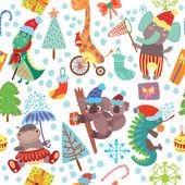 Niedliche Weihnachten nahtlose Muster
